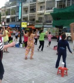 Cambodia Aerobics in the street