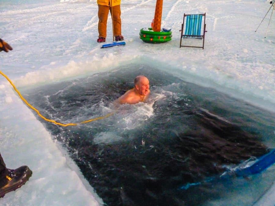 Mid Winters Swim Antarctica