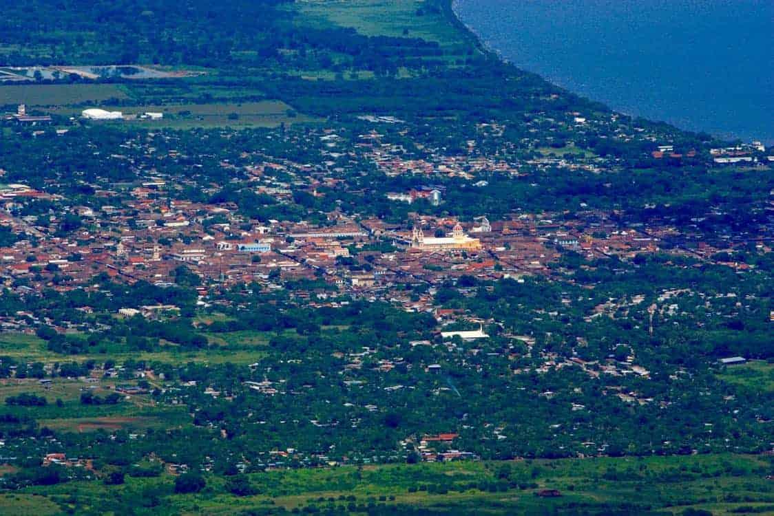 View of Granada Nicaragua from Mombacho Volcano