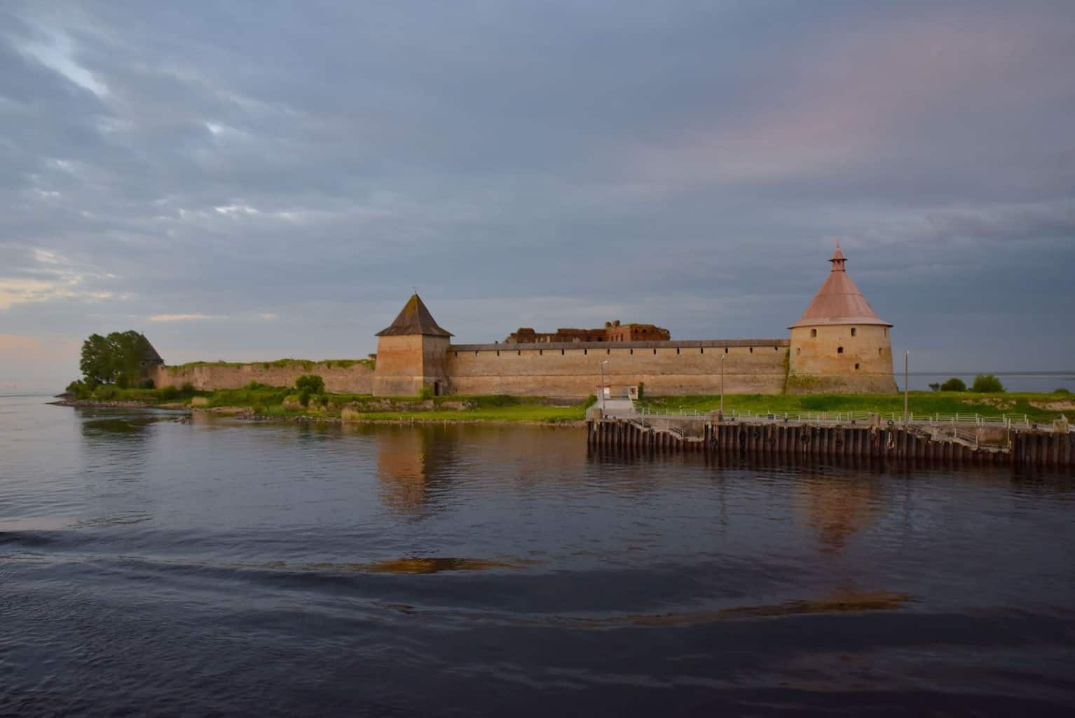 Fortress of Schlusselburg Russia