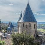 South of France. La Cite de Carcassonne.