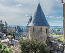 South of France. La Cite de Carcassonne.