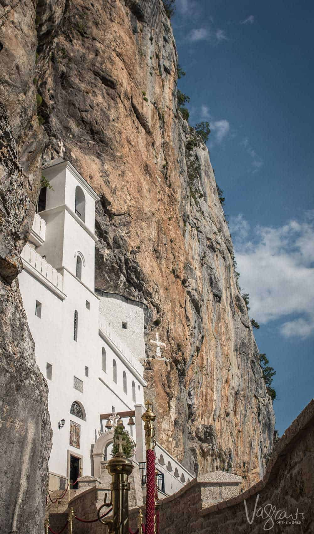 Montenegro - The impressive Ostrog Monastery clings to a cliff face