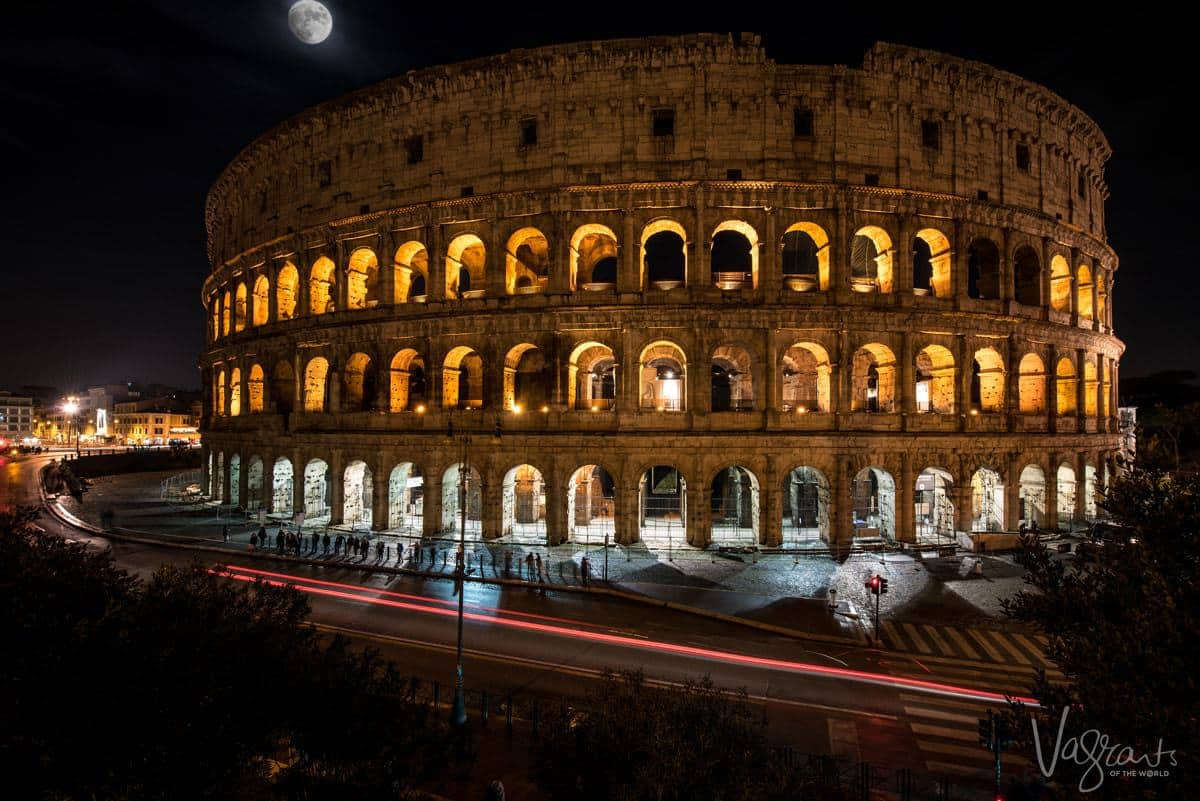 Rome - Coliseum at night. Travel Photography