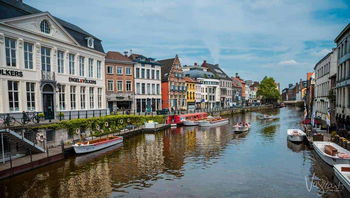 Canals of Ghent. Visit Ghent