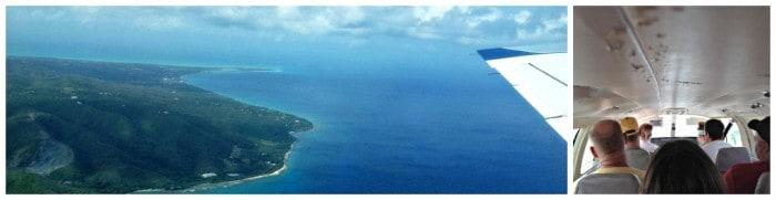 Flying over St Croix- USVI